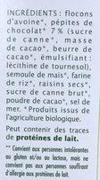 Léa Nature - Muesli au chocolat - Ingredienti - fr