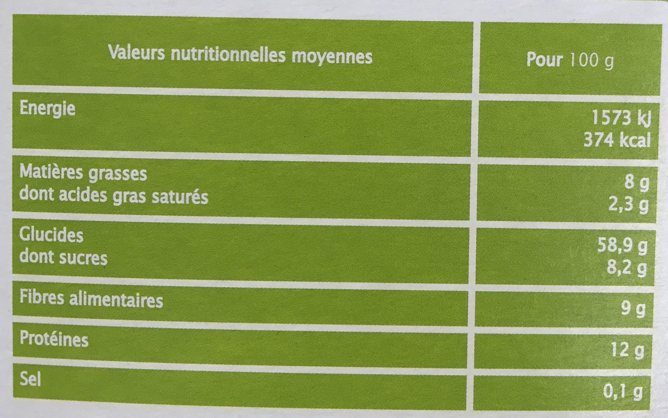 Léa Nature - Muesli au chocolat - Valori nutrizionali - fr