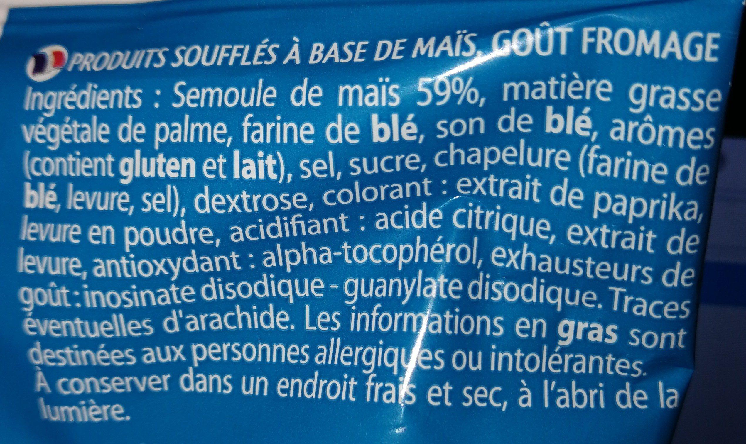 SOUFFLÉS (Goût fromage) - Ingrediënten - fr