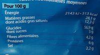 SOUFFLÉS (Goût fromage) - Voedingswaarden - fr