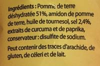 Pétales goût Salé - Ingrediënten - fr