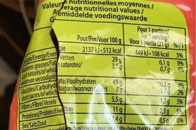 Boules tomate - Voedingswaarden - fr