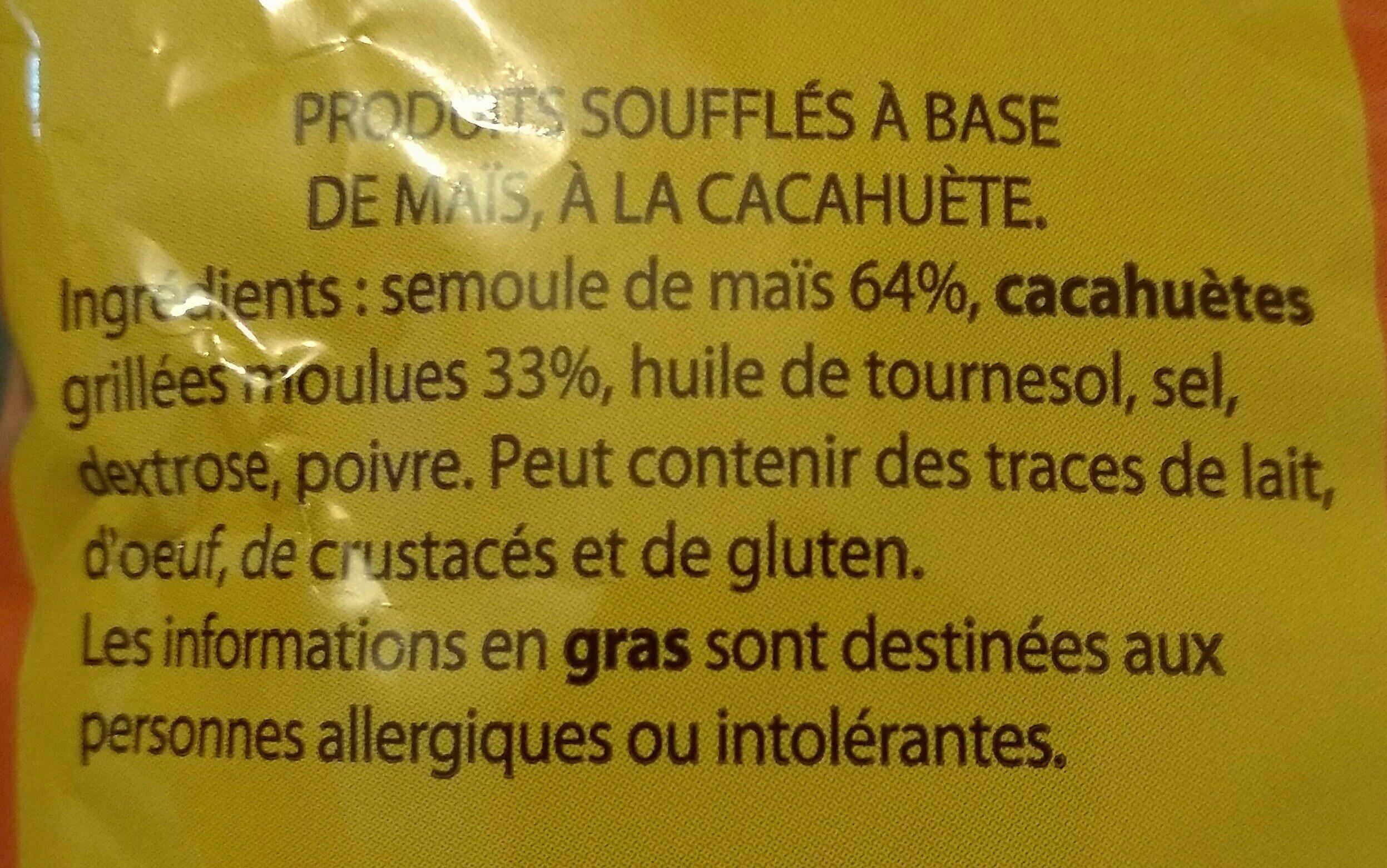 Snacks cacahuète - Ingrediënten - fr