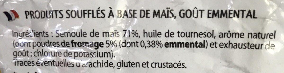 Croustillants emmental - Ingrediënten - fr