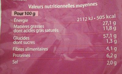Soufflés gout Bacon - Nutrition facts