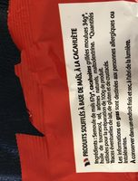 Croustillants cacahuete - Ingrediënten - fr