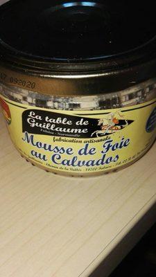 Mousse de foie au calvados Produit - Voedingswaarden - fr