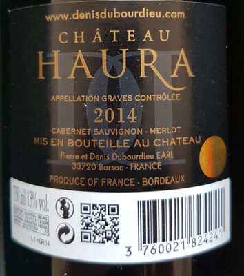 Chateau Haura graves - Ingredients