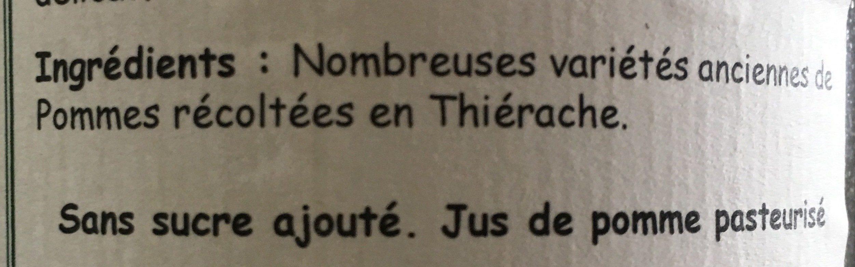 Jus de Pomme de Thiérache - Ingredients - fr