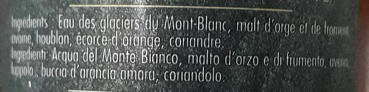 La Blanche - Ingrédients