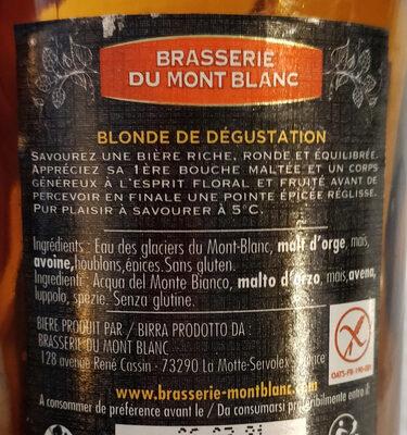 La Blonde - Ingredients