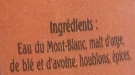 La Rousse - Ingredients - fr