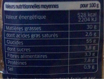 Croûtons nature - Informations nutritionnelles - fr