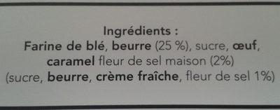 Sablé marguerite - Ingrédients - fr