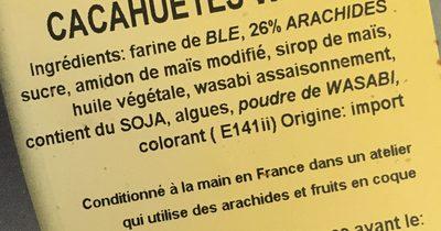 Cacahuètes wasabi - Ingrédients - fr