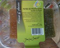 Pâtes de fruits barres qualité Auvergne - Produit - fr