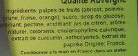 Pâtes de fruits barres qualité Auvergne - Ingrédients - fr