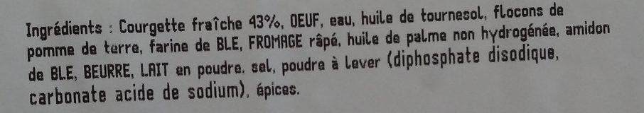 Beignets de légumes (courgettes fraîches) - Ingredients