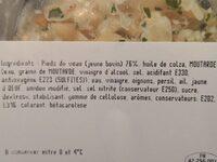 Salade de pieds - Ingrédients