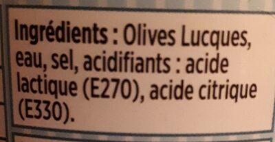 Olives Lucques - Ingrediënten