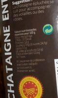 Châtaigne entière épluchees bio naturel - Ingredients