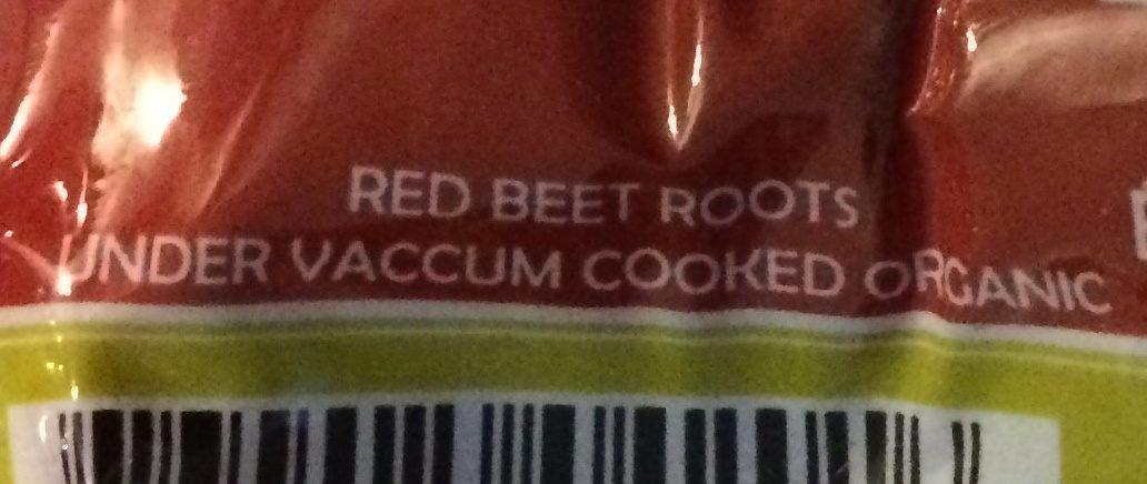 Betteraves rouges biologiques - Ingrédients