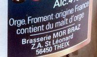 Mor Braz Blanche (4 %) - Ingredients - fr