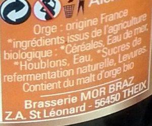 Mor Braz Bio Blonde (5%) - Ingredients - fr