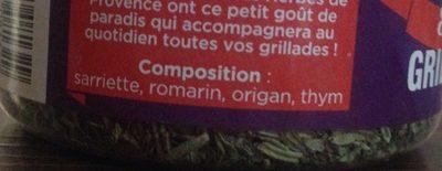 Herbe de Provence - Ingrediënten - fr