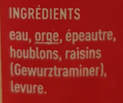 Pikette - Ingredienti - fr