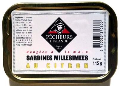 Sardines millésimées au citron - Produit - fr