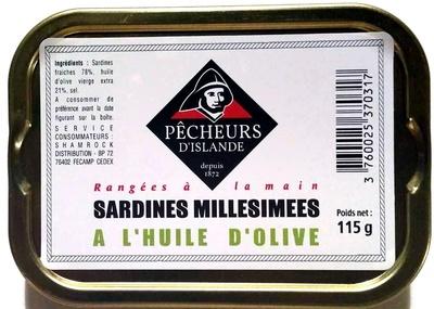 Sardines  millésimées à l'huile d'olive - Produit - fr