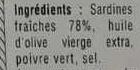 Sardines Millésimées au poivre vert - Ingrédients
