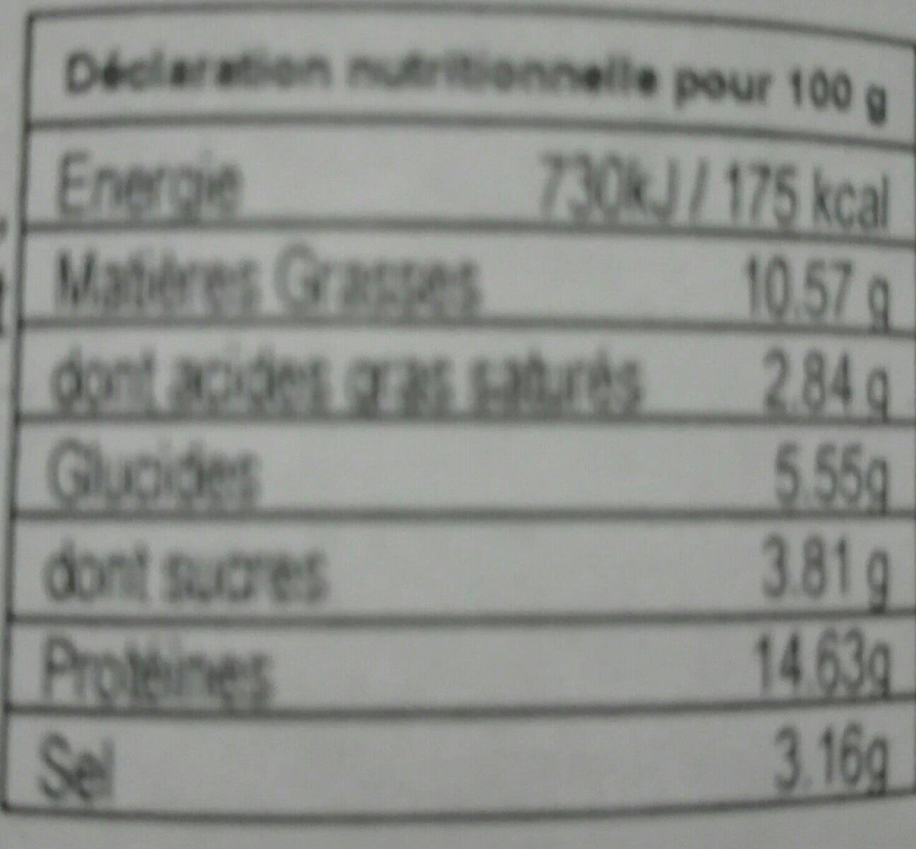 Boules de Picoulat LES SAVEURS DU PAYS CATALAN , bocal de - Voedingswaarden - fr