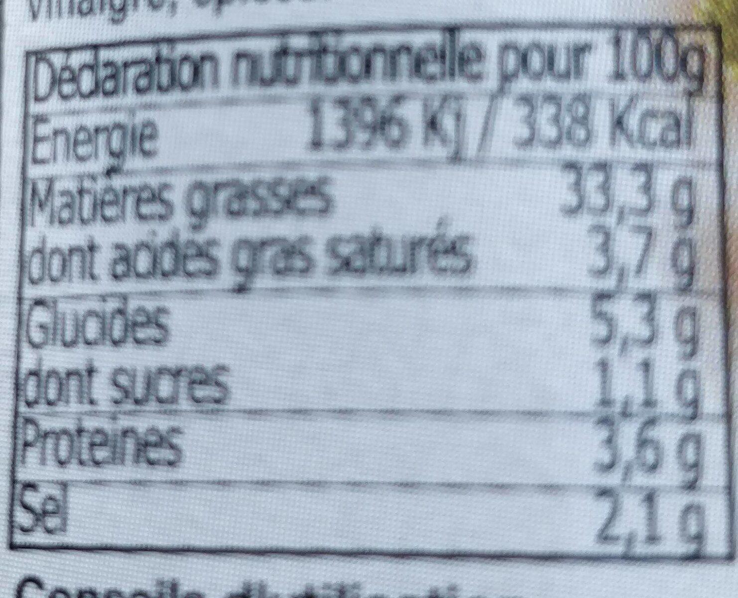 Rouille - Voedingswaarden - fr