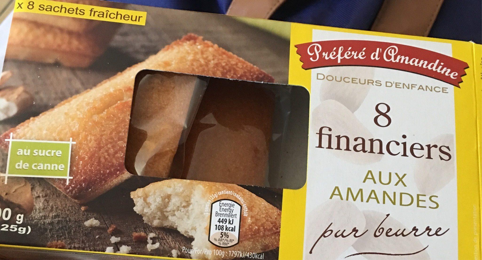 8 financiers aux amandes - Produit - fr
