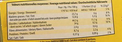 8 financiers aux amandes - Informations nutritionnelles - fr