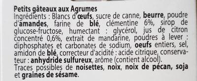 Petits Gâteaux aux Agrumes - Ingredients