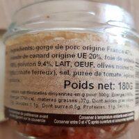 Terrines de canard à la Provençale - Ingredients