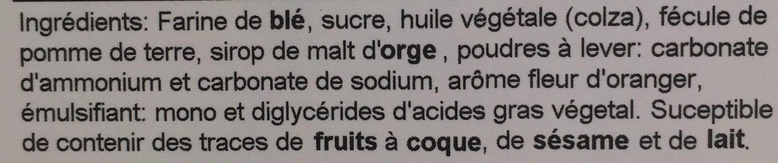 Navettes - Ingredients