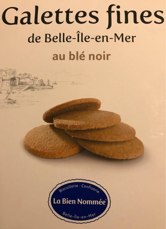 Galettes fines de Belle-Île-en-Mer au blé noir - Product