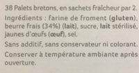 Palets bretons de Belle-Ile-en-Mer - Ingrediënten
