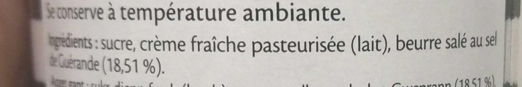 Crème de caramel au beurre salé au sel de Guérande 220 g - Ingredients - fr