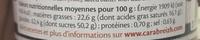 Crème de caramel au beurre salé au sel de Guérande 220 g - Nutrition facts - fr