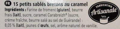 Petits Sablés Bretons au Caramel - Ingrediënten