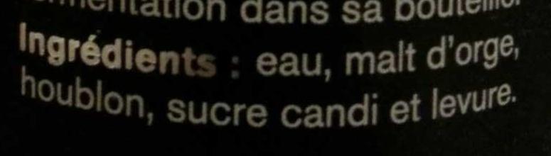 Ninkasi noire - Ingrédients - fr
