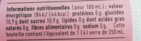 Ninkasi cola - Informations nutritionnelles