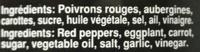 Caviar d'Aubergines et de Poivrons - Ingredients