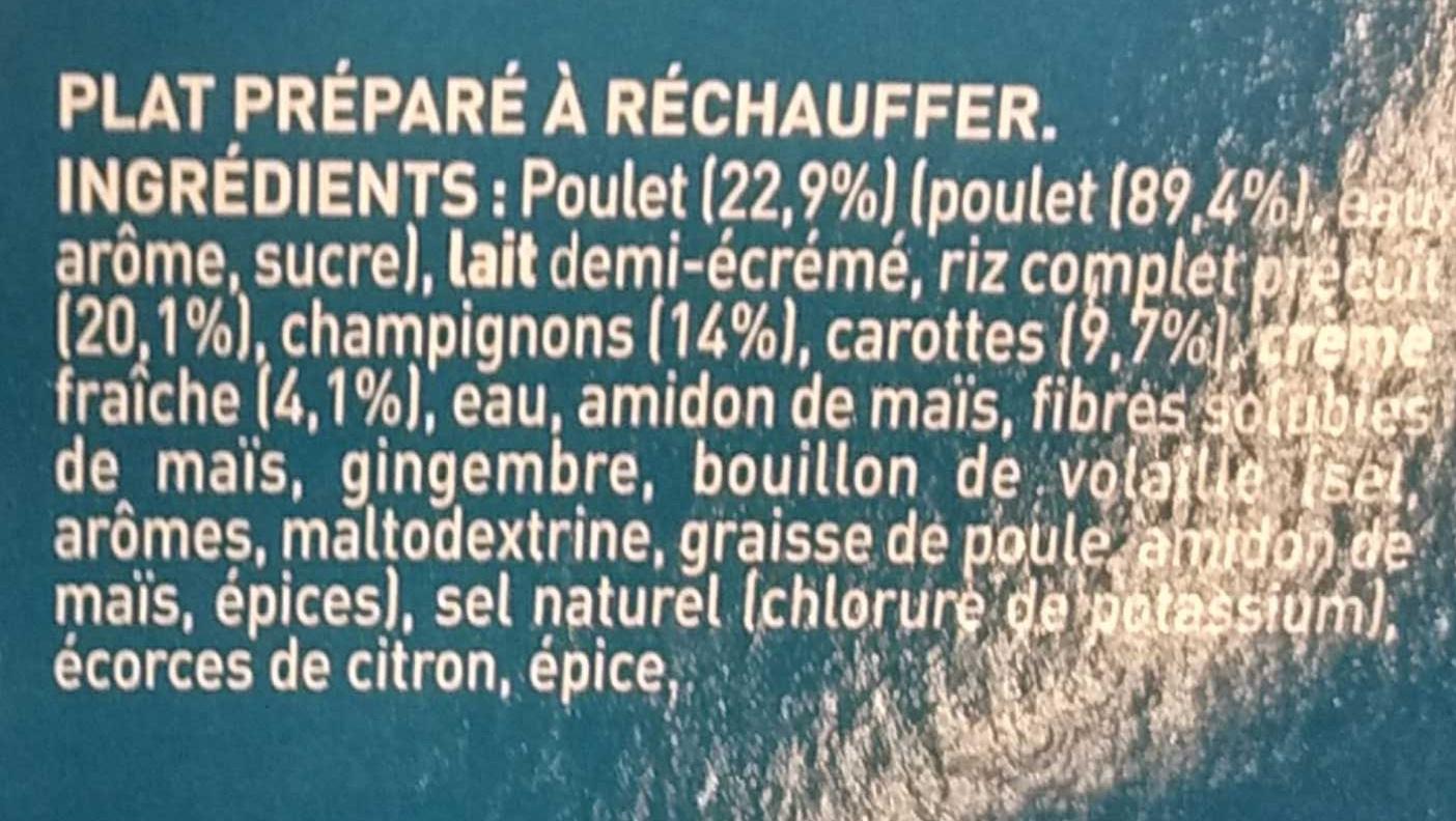 Blanquette de Poulet - Ingrédients