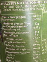 Lait d'amande noisette en poudre - Nutrition facts